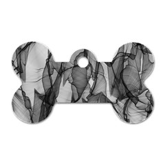 Abstract Black And White Background Dog Tag Bone (two Sides)