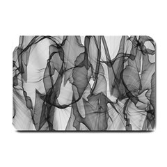 Abstract Black And White Background Small Doormat