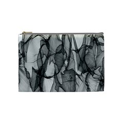 Abstract Black And White Background Cosmetic Bag (medium)