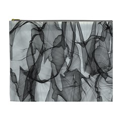 Abstract Black And White Background Cosmetic Bag (xl)