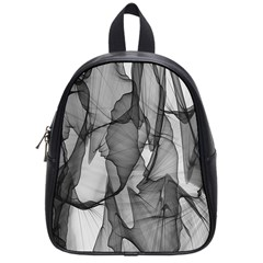 Abstract Black And White Background School Bag (small)