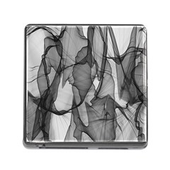 Abstract Black And White Background Memory Card Reader (square)