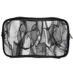 Abstract Black And White Background Toiletries Bags 2 Side