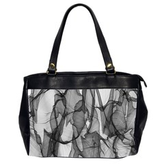 Abstract Black And White Background Office Handbags (2 Sides)