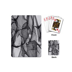 Abstract Black And White Background Playing Cards (mini)