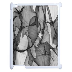Abstract Black And White Background Apple Ipad 2 Case (white)