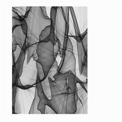 Abstract Black And White Background Large Garden Flag (two Sides)