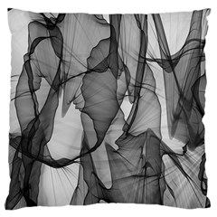 Abstract Black And White Background Large Cushion Case (two Sides)