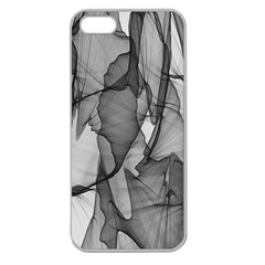 Abstract Black And White Background Apple Seamless Iphone 5 Case (clear)