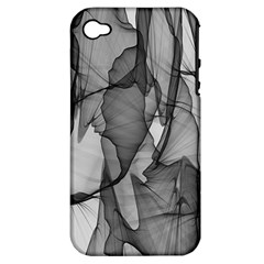 Abstract Black And White Background Apple Iphone 4/4s Hardshell Case (pc+silicone)