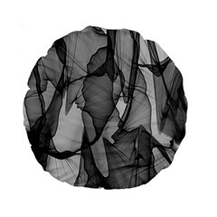 Abstract Black And White Background Standard 15  Premium Round Cushions