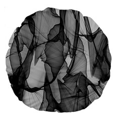 Abstract Black And White Background Large 18  Premium Round Cushions