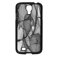 Abstract Black And White Background Samsung Galaxy S4 I9500/ I9505 Case (black)