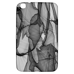 Abstract Black And White Background Samsung Galaxy Tab 3 (8 ) T3100 Hardshell Case