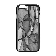 Abstract Black And White Background Apple Iphone 6/6s Black Enamel Case