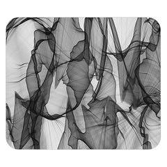 Abstract Black And White Background Double Sided Flano Blanket (small)