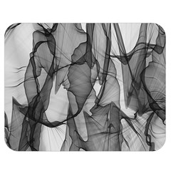 Abstract Black And White Background Double Sided Flano Blanket (medium)
