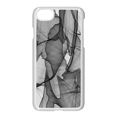 Abstract Black And White Background Apple Iphone 8 Seamless Case (white)