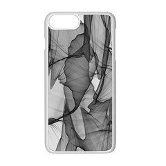 Abstract Black And White Background Apple Iphone 8 Plus Seamless Case (white)