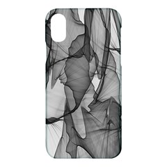 Abstract Black And White Background Apple Iphone X Hardshell Case