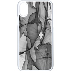 Abstract Black And White Background Apple Iphone X Seamless Case (white)