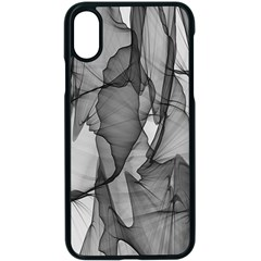 Abstract Black And White Background Apple Iphone X Seamless Case (black)