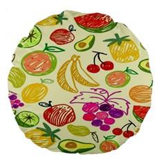 Seamless Pattern Desktop Decoration Large 18  Premium Flano Round Cushions