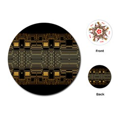 Board Digitization Circuits Playing Cards (round)