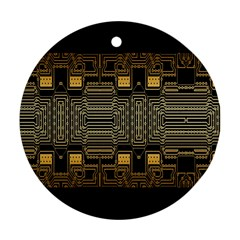 Board Digitization Circuits Round Ornament (two Sides)