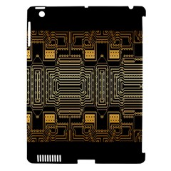 Board Digitization Circuits Apple Ipad 3/4 Hardshell Case (compatible With Smart Cover)