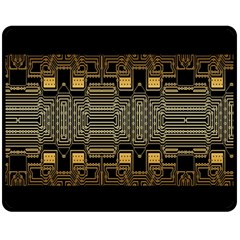 Board Digitization Circuits Double Sided Fleece Blanket (medium)