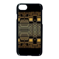 Board Digitization Circuits Apple Iphone 8 Seamless Case (black)