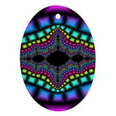 Fractal Art Artwork Digital Art Ornament (oval)