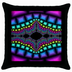 Fractal Art Artwork Digital Art Throw Pillow Case (black)