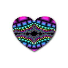Fractal Art Artwork Digital Art Heart Coaster (4 Pack)