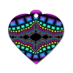 Fractal Art Artwork Digital Art Dog Tag Heart (one Side)