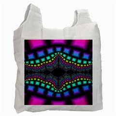 Fractal Art Artwork Digital Art Recycle Bag (two Side)