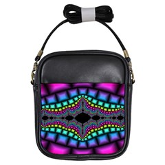 Fractal Art Artwork Digital Art Girls Sling Bags