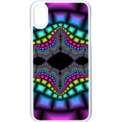 Fractal Art Artwork Digital Art Apple Iphone X Seamless Case (white)