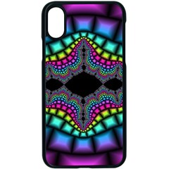Fractal Art Artwork Digital Art Apple Iphone X Seamless Case (black)