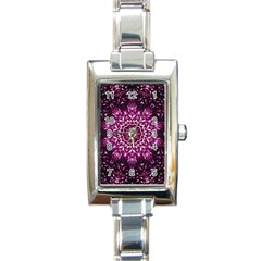 Background Abstract Texture Pattern Rectangle Italian Charm Watch