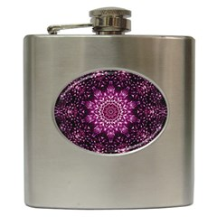 Background Abstract Texture Pattern Hip Flask (6 Oz)