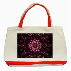 Background Abstract Texture Pattern Classic Tote Bag (red)