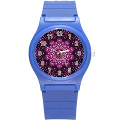 Background Abstract Texture Pattern Round Plastic Sport Watch (s)