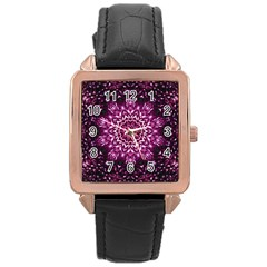 Background Abstract Texture Pattern Rose Gold Leather Watch