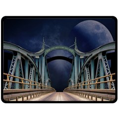 Bridge Mars Space Planet Fleece Blanket (large)