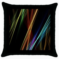 Lines Rays Background Light Throw Pillow Case (black)
