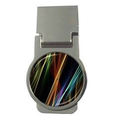 Lines Rays Background Light Money Clips (round)