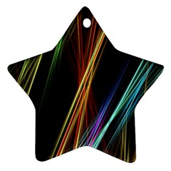 Lines Rays Background Light Star Ornament (two Sides)