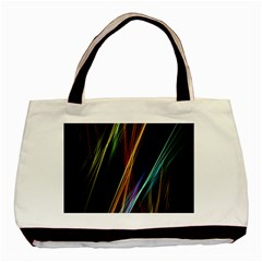 Lines Rays Background Light Basic Tote Bag (two Sides)